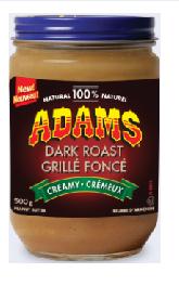 Adams Creamy Peanut Butter 500g