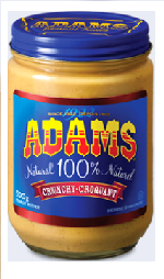 Adams Natural Crunchy Peanut Butter 500g