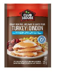Club House 25% Less Salt Turkey Gravy Mix 25g