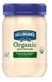 Hellmanns Organic Mayonnaise 443ml