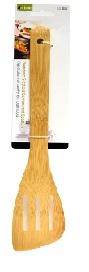 Luciano bamboo Slotted Contoured Spatula